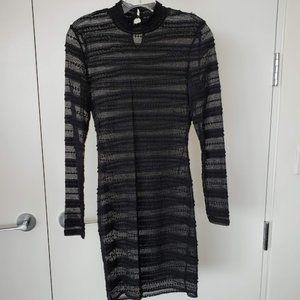 Bardot Black Sheer Lace Dress Size 4